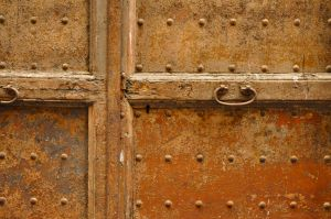 Rusty Metal Door, Florence, Spain