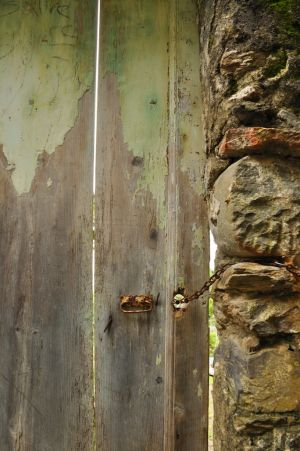 Secured in Rust, Vernazza, Italy